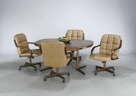dinette sets chairs with casters. kitchen table sets with caster chairs dining room casters furniture devon coast 5 piece dinette e
