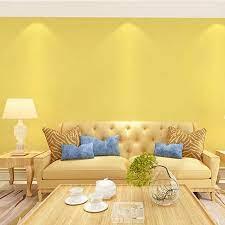 Yellow wallpaper bedroom living room ...