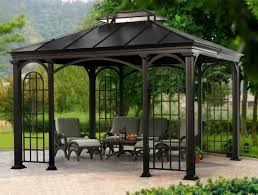gazebo glass. decorating delightful black gazebo kit design inspiration with table glasses and trees pretty romantic red front glass a