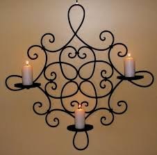 wrought iron candle holders beautiful
