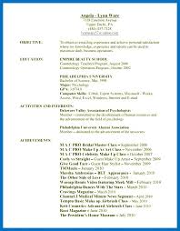 Hair Stylist Resume Skills Resume For Hairstylist Hair Stylist ...