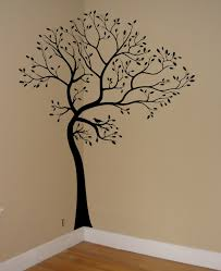 black wooden wall art tree decal stickers custom personalized order corner living room decoraitons unique