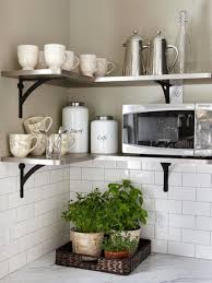Decorating Kitchen Shelves Kitchen Shelves Ideas Modern White Dining Chairs Wall Mounted