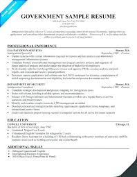 Federal Government Resume Format Adorable Resume For Federal Jobs Catarco