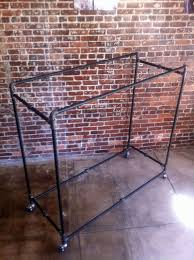 black pipe clothing rack box rack retail clothing rack double sided