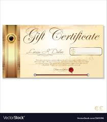 009 Template Ideas Luxury Gift Certificate Vector Card Free