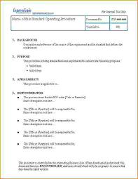 standard operating procedures template word sop m4 maintenance essay example homework example june