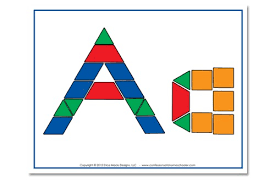 Pattern Block Template Best FREE Alphabet Pattern Block Printables Confessions Of A Homeschooler