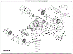 homelite ry40100 40 volt lawn mower parts diagram for wiring diagram figure a part 2