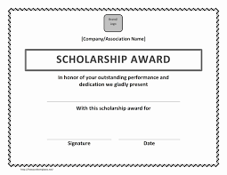 Free Certificate Templates For Word Scholarship Award Certificate