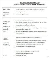 Simple Business Case Templates Simple Business Case Template Presentation Example Pdf Rhumb Co