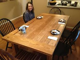 Farm Table Plans Homemade Dining Table Plans