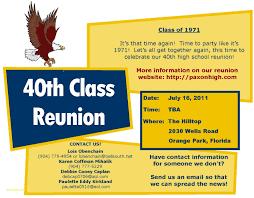 Class Reunion Invitation Template Elegant High School Reunion Website Template Professional Templates 23