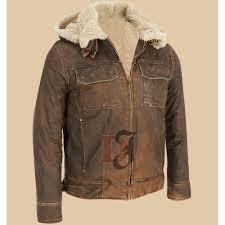 dark brown contrast faux fur hooded leather jacket dark brown jackets