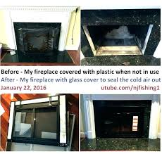 installing glass fireplace doors