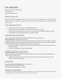 General Professional Summary For Resume Sample Electrician Resume And Skills List