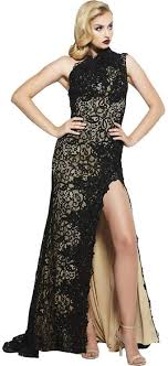 Mac duggal 12406 sheer corset lace mermaid gown. Amazon Com Mac Duggal Couture Women S Black Lace Overlay One Shoulder Formal Gown Long Dress Prom Pageant Sz 4 New Clothing
