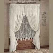 split shower curtain ideas. Wisteria Arbor Lace Window Treatments | Touch Of Class Curtains Split Shower Curtain Ideas