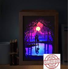 3d Photo Light Box Amazon Com Paper Cut Light Box 3d Template Svg Files Paper