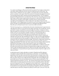 animal farm novel essay