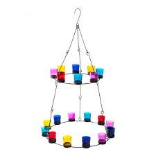 2 tier chandelier multi coloured glass