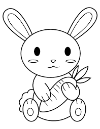 rabbit coloring pages easter bunny for