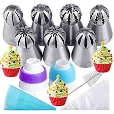 Russian Piping Tips Chart Russian Piping Tips 21pcs Bakers Kit Set For Cake Cupcake Decorating 7 Russian Tips 10 Disposable Pastry Bags 2 Coupler 1 Reusable Silicone