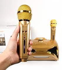 Loa karaoke bluetooth ST 2025 - Loa bass đôi – Đèn led 7 màu - Tặng kèm 2  micro không dây – Loa xách tay Nghe nhạc, karaoke cực chất - Bass