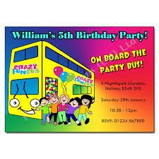 Childrens Disco Invitations Party Bus Invitation