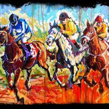 horse races derby art jockey seanshrum com run for