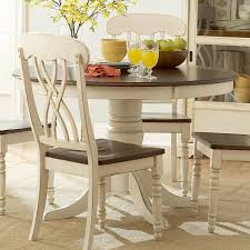 vintage white round dining table