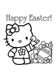 You will find coloring pages with character hello kitty, which you can print yourself. Print Coloring Image Momjunction A Community For Moms Hello Kitty Colouring Pages Free Easter Coloring Pages Hello Kitty Coloring