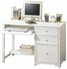 Small computer desk with drawers
