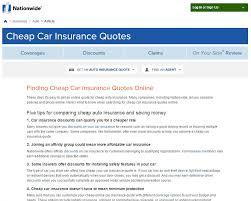 Nationwidecheapcarinsurancequotesscreenshot Magnificent Nationwide Insurance Quote