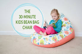 sew a kids bean bag chair in 30 minutes