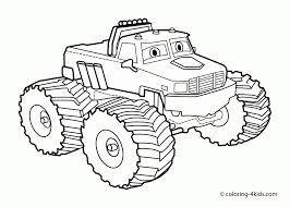 Kleurplaten Monstertruck Monster Truck Colouring Pages Bell