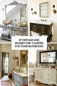 Shabby Chic Bathroom 29 Vintage And Shabby Chic Vanities For Your Bathroom Digsdigs