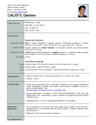 How To Write A French Resume Resume For Study