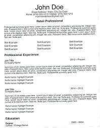 Retail Resume Description Retail Job Resume Retail Executive Resume Example Retail Sales