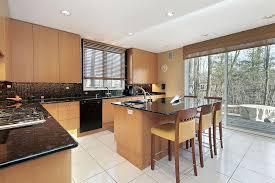 kitchen floor tiles with light cabinets. Fine Cabinets Black Countertops Contrast With Brightly Toned Smooth Wood Cabinets And  White Tile Floor In This Kitchen To Kitchen Floor Tiles With Light Cabinets T