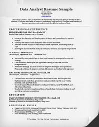 Data Analyst Resume Format Data Analyst Resume Sample Expert