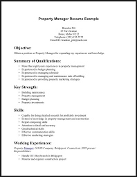 cover letter  examples of skills to put on a resu  axtran    property manager resume example for objective with summary of qualifications and key strength