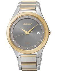 citizen eco drive men s chronograph sport stainless steel bracelet seiko men s solar diamond accent two tone stainless steel bracelet watch 39mm sne344