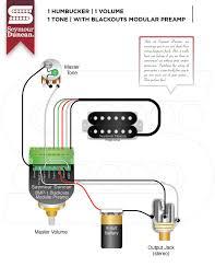 1 pickup seymour duncan part 2 1 hum 1 volume 1 tone blackout modular preamp