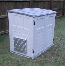 powershelter kit ii for storing and running portable generator inside a shed
