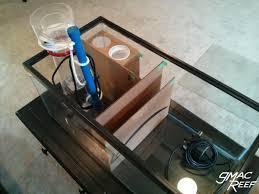 sump baffles test model in cardboard