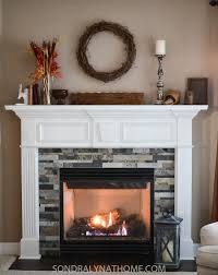 easy l and stick stone fireplace surround sondra lyn at home rh sondralynathome com diy faux stone fireplace surround installing stone veneer fireplace