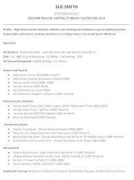 College Resume Sample For High School Senior Nfcnbarroom Com
