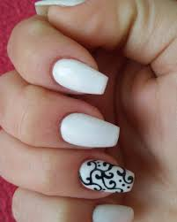 Cool Nail Designs With Black And White 27 White And Black Nail Art Designs Ideas Design Trends