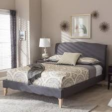 chic bedroom furniture. Maison Rouge Adrian French Classic Modern Style Dark Grey Polyester Fabric Platform Bed (3 Options Chic Bedroom Furniture
